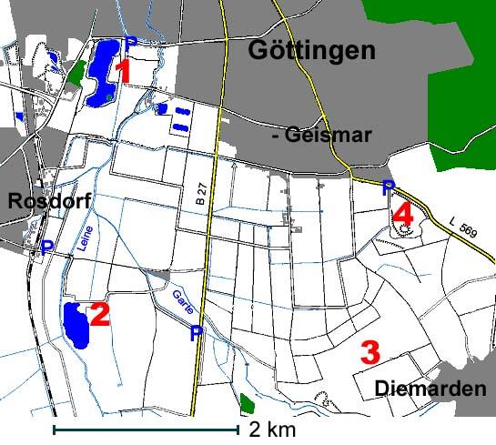 �bersichtskarte Göttingen Süd