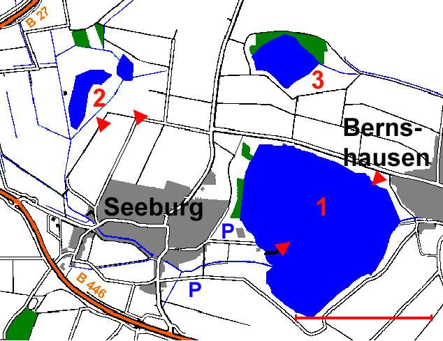 �bersichtskarte Seeburger See und Umgebung